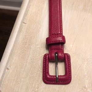 "Pink snake print XL belt worn once 43 x 3/4"""